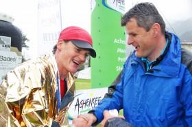 Karwendelmarsch Läufer Markus Reich und Martin Tschoner vom TVB Achensee