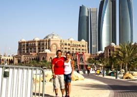 Gerhard Budy und Renate Weber in Abu Dhabi