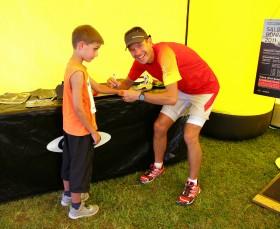 Achenseelauf 2011: Autogrammstunde mit Jonathan Wyatt