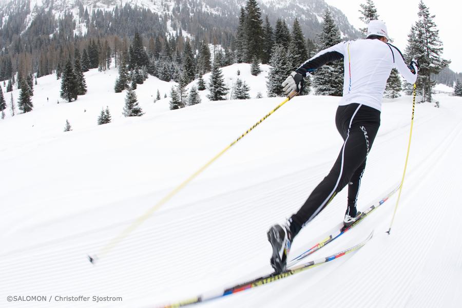 Salomon Langlauf Ausrüstung für klassisches Langlaufen
