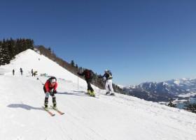 Skitourenrennen am Zwölferhorn im Salzkammergut