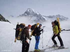 Snowbike Aufstieg auf den Großglockner
