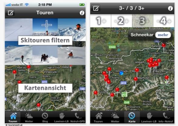 Nützliche Apps: Tourenwelt App