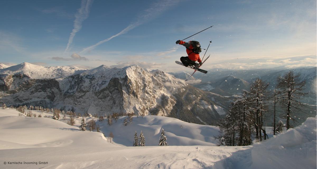 Skigebiet Nassfeld in Kärnten