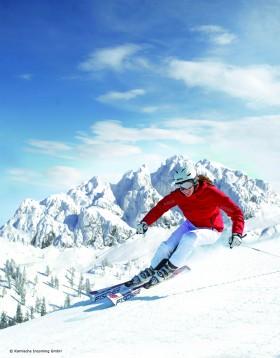 Skifahren im Skigebiet Nassfeld