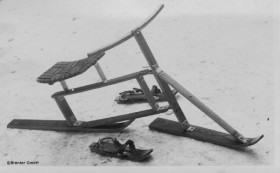 10.3.1949: Brenter Sitzski, der Vorreiter des Snowbikes