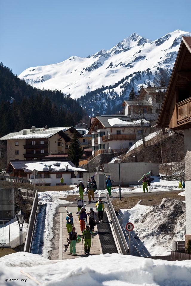 Climb to Ski Camp von Salewa in St. Anton am Arlberg