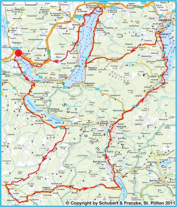 5-Seen-Marathon Strecke
