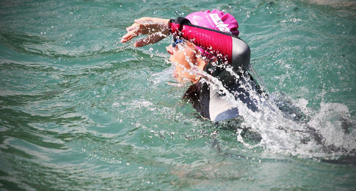 Start beim Salzburger Land Triathlon