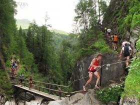 Wasserfall Berglauf