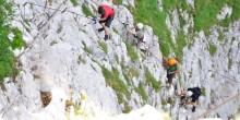 Klettersteig-Aufstieg