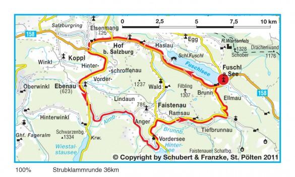 Rennrad Strecke in Salzburg