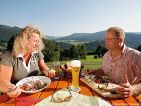 Wandern Baiersbronn Jause