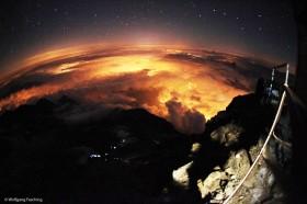 Mont Blanc bei Nacht