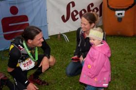 Karwendelmarsch Sieger Meex mit seiner Familie