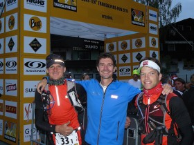 Meex & Andi beim Transalpine Run 2012