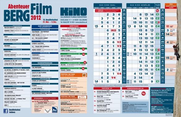 Bergfilmfestival 2012 - Das Programm
