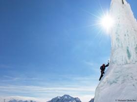Eisklettern Stubaier Gletscher