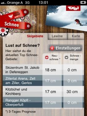 snow app tirol