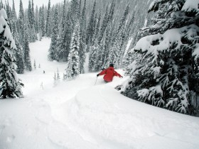 Winterlandschaft Skitour Abfahrt