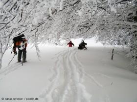 Skitour Tiefschnee