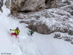David Lama Skitour Abfahrt