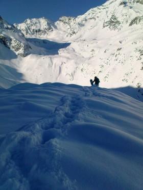 Stubaital Snowboarden