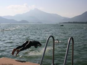 Triathlon Salzkammergut Schwimmstart
