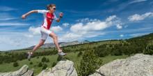 Laufen über Felsen