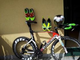 Die Triathlon-Ausrüstung von Emanuel