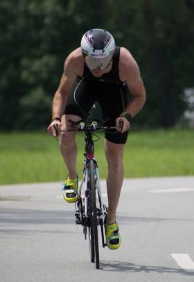 Emanuel auf der Radstrecke