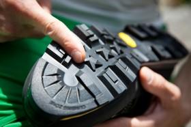 Schuh für den Klettersteig