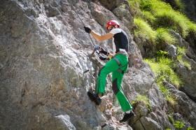 Klettern am Klettersteig