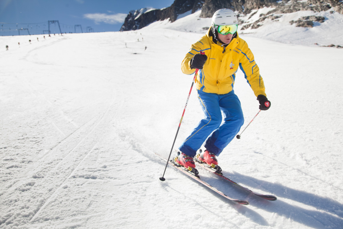 Skitechnik Kurzschwung