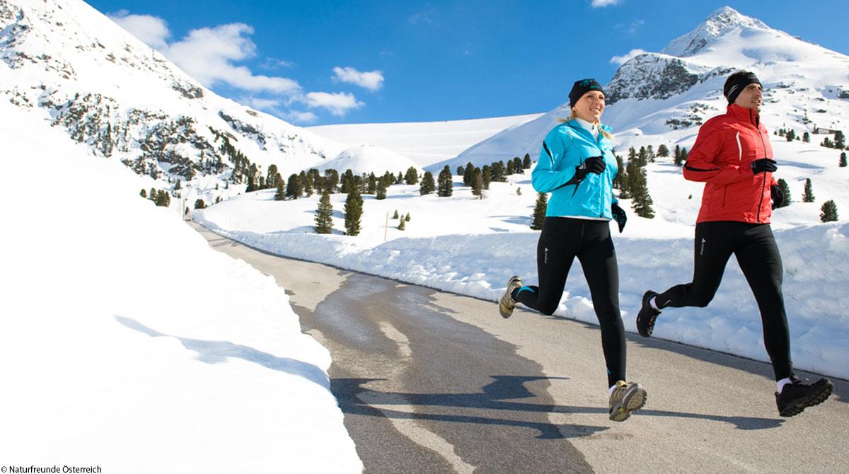 Lauftraining Winter Asphalt