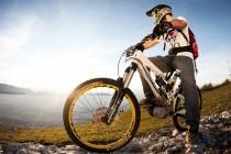 Mountainbike Sonnenaufgang