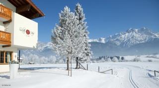 Das Loipennetz in Saalfelden startet direkt vorm Hotel Saliter Hof