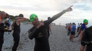 Emanuel top-motiviert für seinen ersten Half-Ironman.
