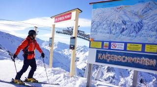 Der Checkpoint in Hochzillertal bietet Gelegenheit seine Ausrüstung zu überprüfen.