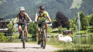 Auf den Trails erkunden die Teilnehmer die Gegend um Saalfelden und Leogang.