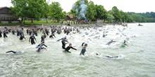 Schwimmstart im Chiemsee