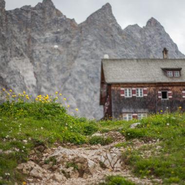 Laufstrecke im Karwendelgebirge