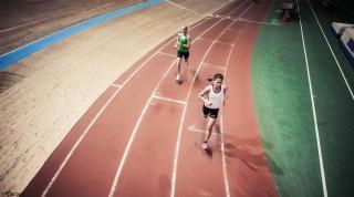 Laufen in der Dusika Halle