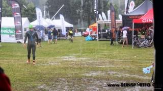 Das schlechte Wetter ließ die Teilnehmer unbeeindruckt.