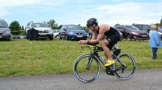 Markus beim Triathlon Mostiman