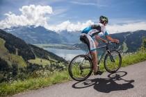 Rennradanstieg mit Panoramablick auf den Zellersee