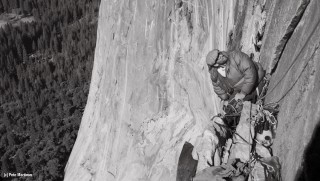 Royal-Robbins-on-El-Capitan's-North-American-Wall-1964-ph-Glen-Denny