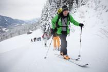 Skitour mit Stock
