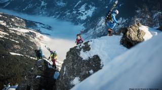 Kletteraufstieg mit Hagan Ski