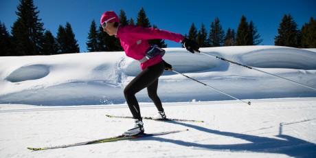 Langlauf Skaten Winter Triathlon